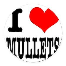 MULLETS.png Round Car Magnet