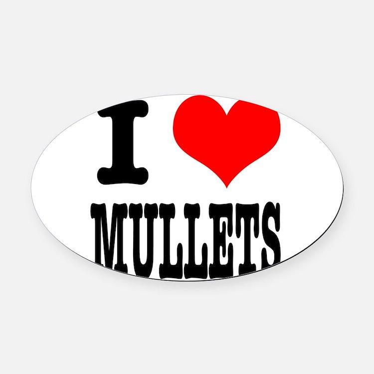 MULLETS.png Oval Car Magnet
