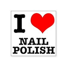 "nail polish.png Square Sticker 3"" x 3"""