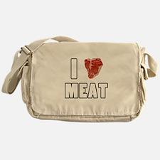 I Heart Meat Messenger Bag