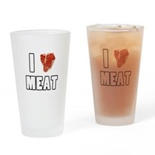 I Heart Meat Drinking Glass