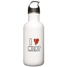 I Heart Meat Water Bottle