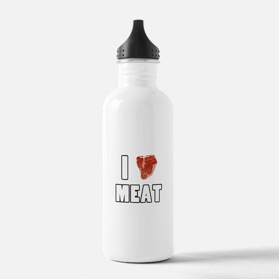 I Heart Meat Water Bottle