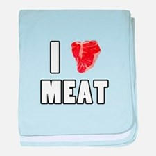 I Heart Meat baby blanket
