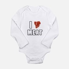 I Heart Meat Long Sleeve Infant Bodysuit