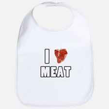 I Heart Meat Bib