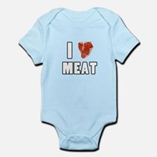 I Heart Meat Onesie