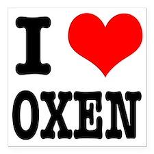 """OXEN.png Square Car Magnet 3"""" x 3"""""""