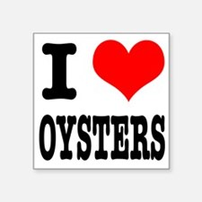 "OYSTERS.png Square Sticker 3"" x 3"""