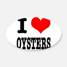 OYSTERS.png Oval Car Magnet