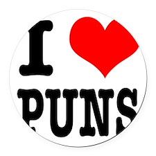 PUNS.png Round Car Magnet
