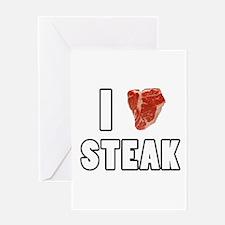I Heart Steak Greeting Card