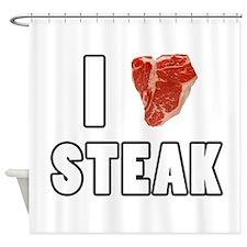 I Heart Steak Shower Curtain