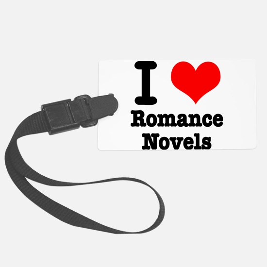 I Heart (Love) Romance Novels Luggage Tag