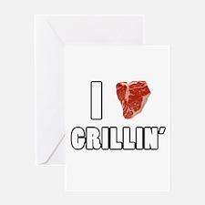 I Heart Grillin Greeting Card
