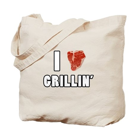 I Heart Grillin Tote Bag