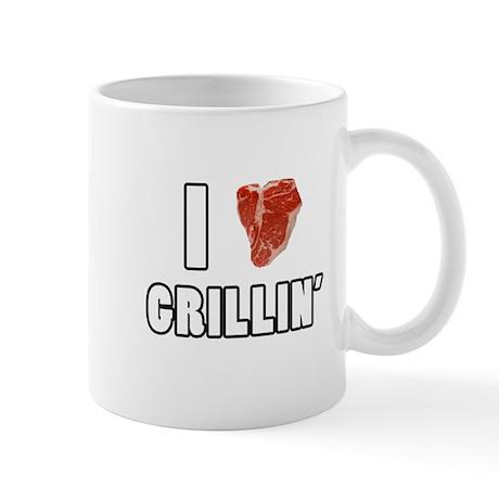 I Heart Grillin Mug