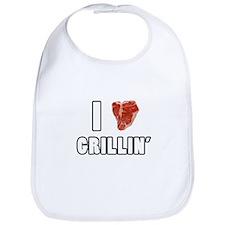 I Heart Grillin Bib
