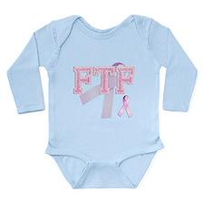 FTF initials, Pink Ribbon, Long Sleeve Infant Body