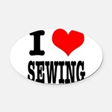 SEWING.png Oval Car Magnet