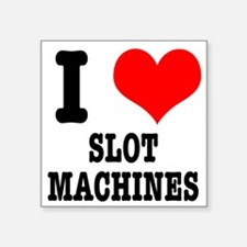 "SLOT MACHINES.png Square Sticker 3"" x 3"""