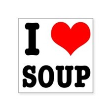 "SOUP.png Square Sticker 3"" x 3"""