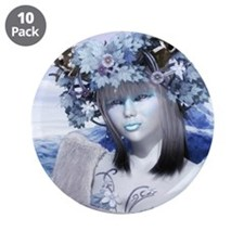 """Ice Queen 3.5"""" Button (10 pack)"""