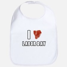 I Heart Labor Day Bib