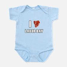 I Heart Labor Day Infant Bodysuit