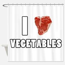 I Heart Vegetables Shower Curtain