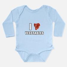 I Heart Vegetables Long Sleeve Infant Bodysuit
