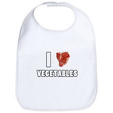 I Heart Vegetables Bib