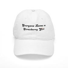 Strawberry girl Baseball Cap
