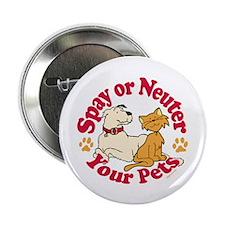 "Spay/Neuter Circle (Pets) 2.25"" Button (10 pack)"