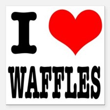 """WAFFLES.png Square Car Magnet 3"""" x 3"""""""