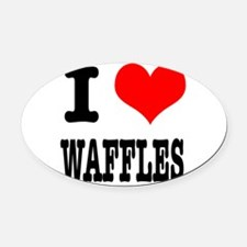 WAFFLES.png Oval Car Magnet