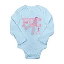 FOC initials, Pink Ribbon, Long Sleeve Infant Body