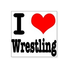 """wrestling.png Square Sticker 3"""" x 3"""""""