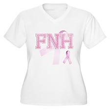 FNH initials, Pink Ribbon, T-Shirt