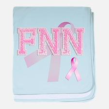 FNN initials, Pink Ribbon, baby blanket