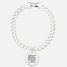 Ask Not Little Brother Charm Bracelet, One Charm