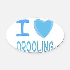 drooling boy.png Oval Car Magnet