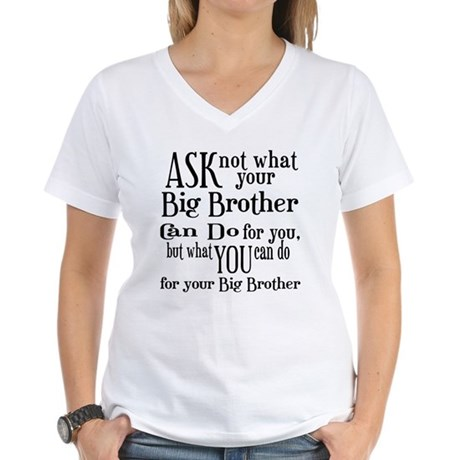 Ask Not Big Brother Women's V-Neck T-Shirt