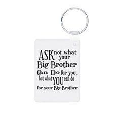 Ask Not Big Brother Aluminum Photo Keychain