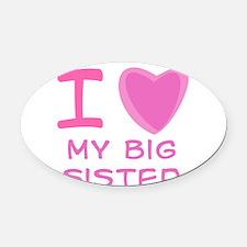 big sister pink.png Oval Car Magnet