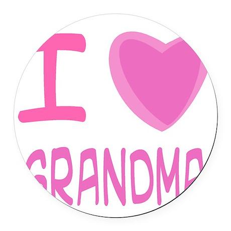 grandma girl.png Round Car Magnet