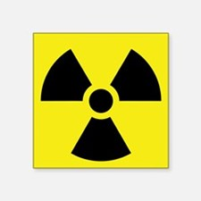 "Radioactive Symbol Square Sticker 3"" x 3"""