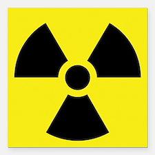 "Radioactive Symbol Square Car Magnet 3"" x 3"""