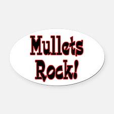 mullets rock.png Oval Car Magnet