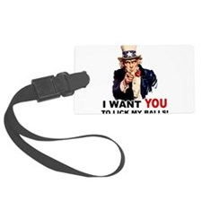 KICK MY BALLS.png Luggage Tag
